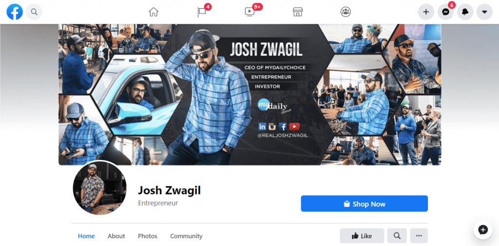 Josh Zwagil Official FB Page