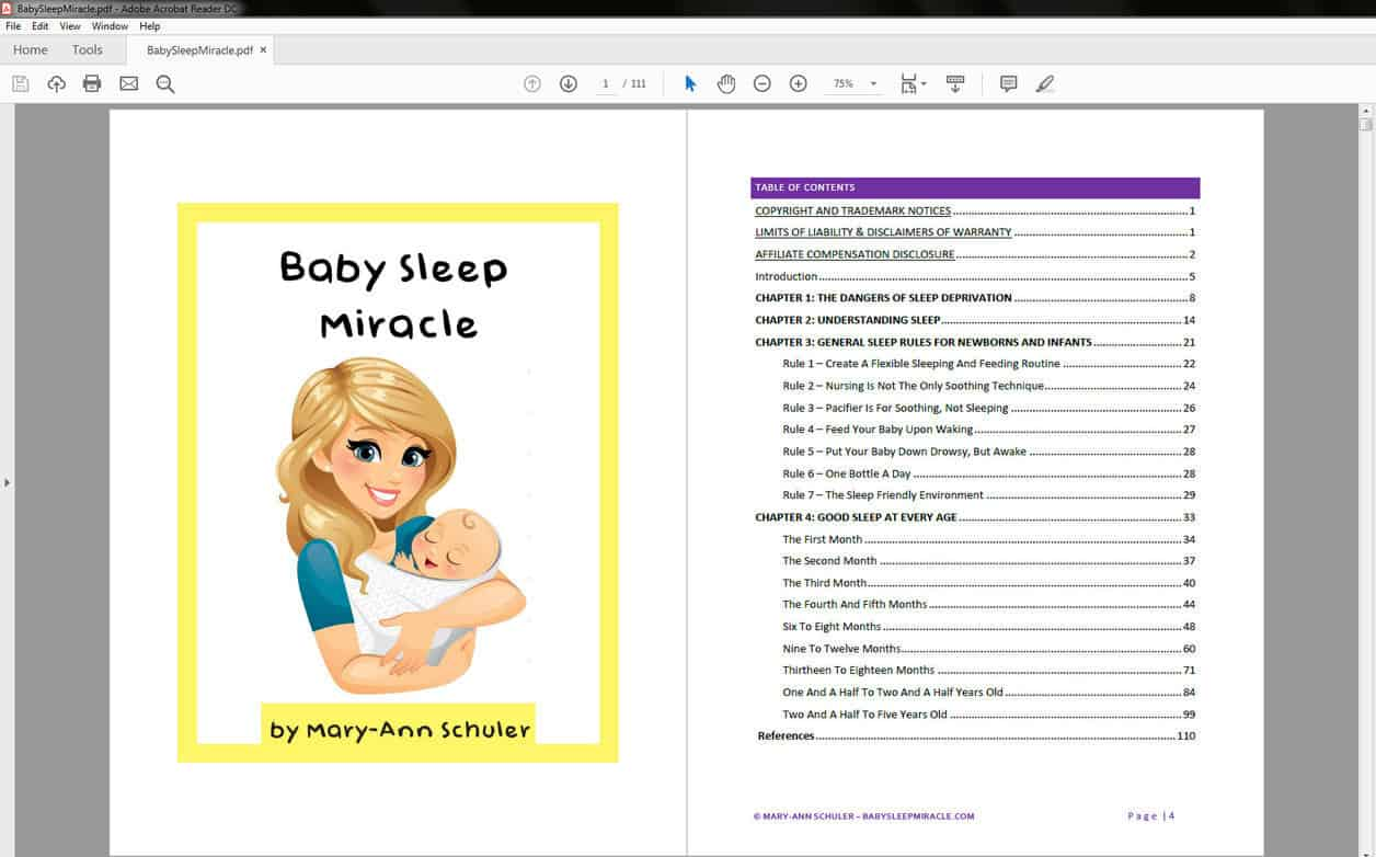 Baby sleep miracle - table of contents