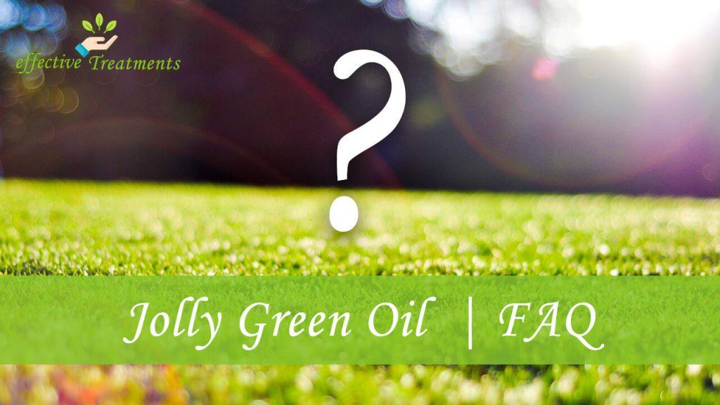 Jolly green oil CBD | faq