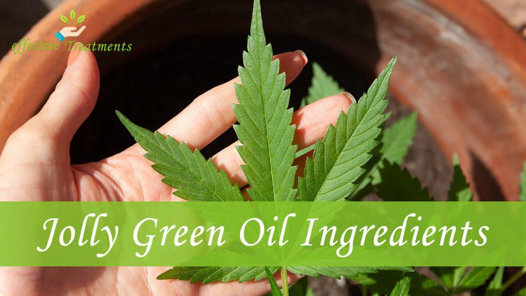 Jolly green oil CBD ingredients