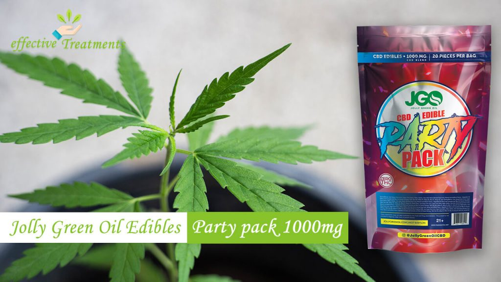 Jolly green oil edibles 1000mg party pack