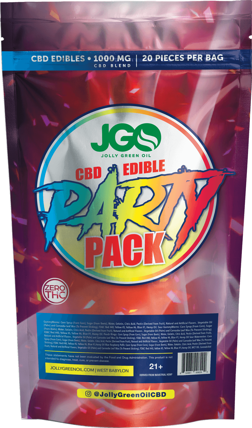 Jolly green oil edibles | JGO party pack 1000mg