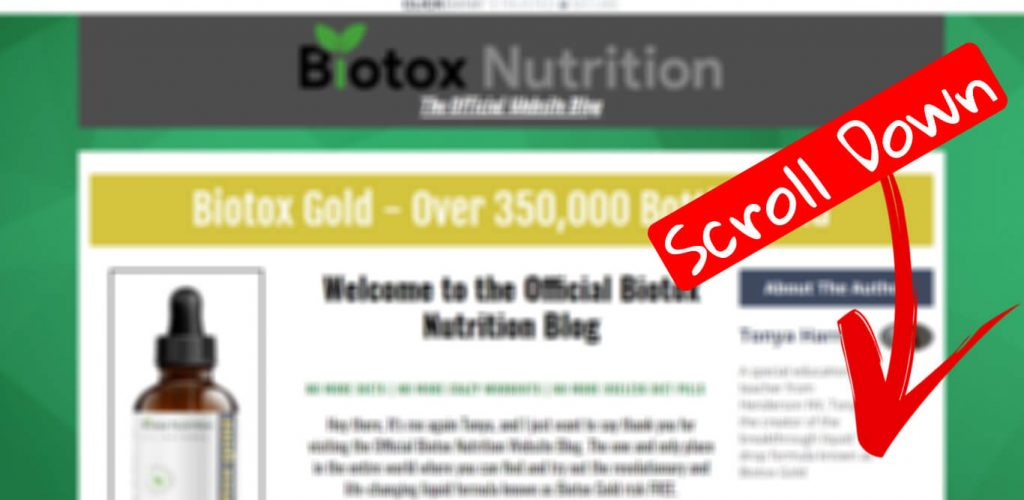 How to buy biotox gold step 1