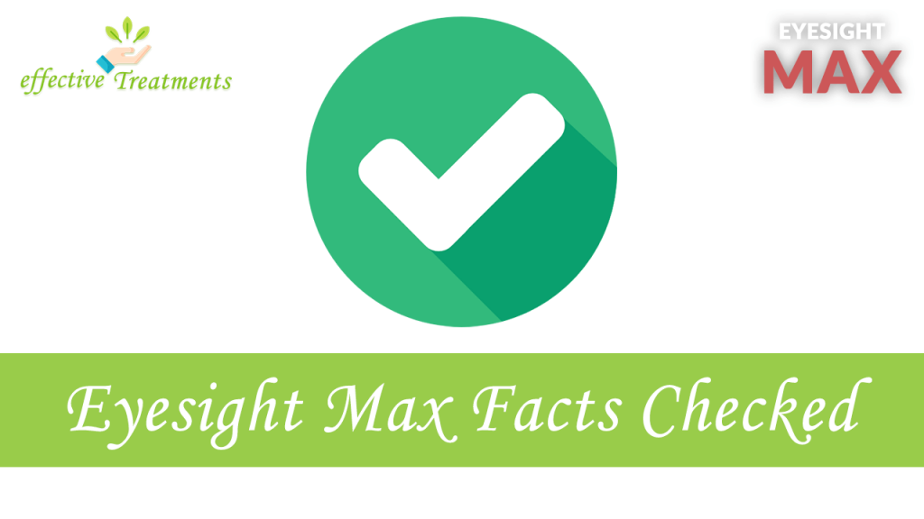 Eyesight Max facts checked