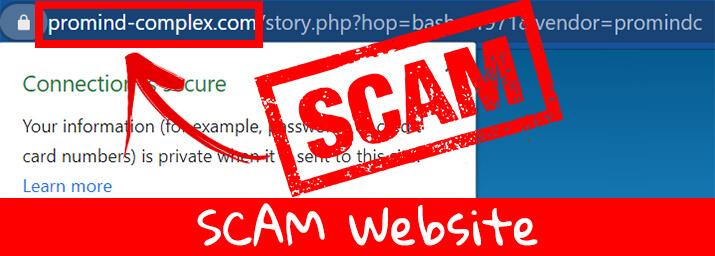 scam website promind
