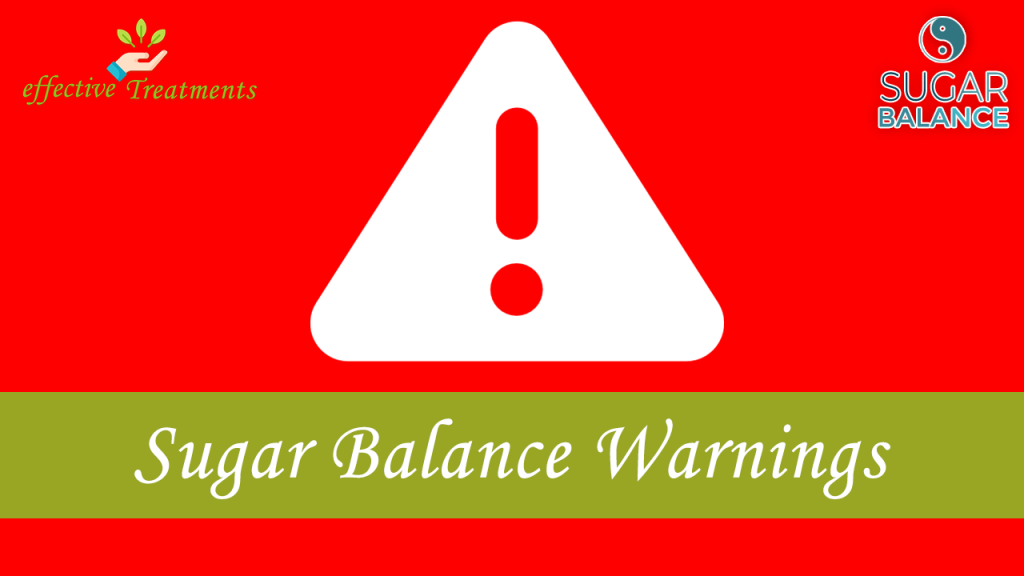 Sugar Balance warnings