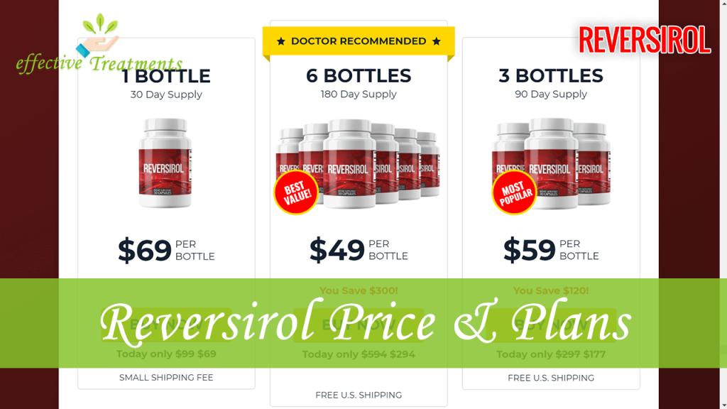 Reversirol price and plans