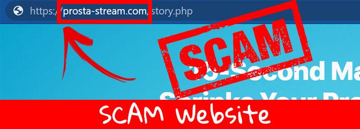 prostastream scam website
