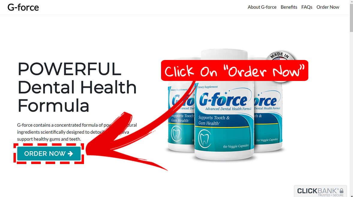 How to buy G Force supplement step1