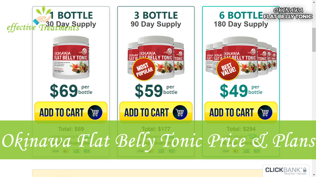 Okinawa Flat Belly Tonic price and plans