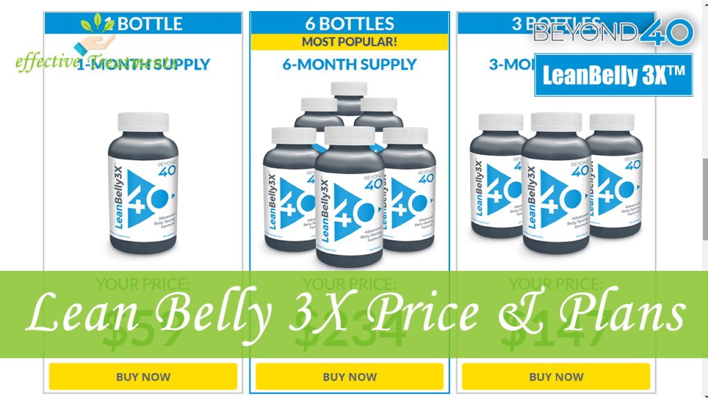 Leanbelly3x price and plans