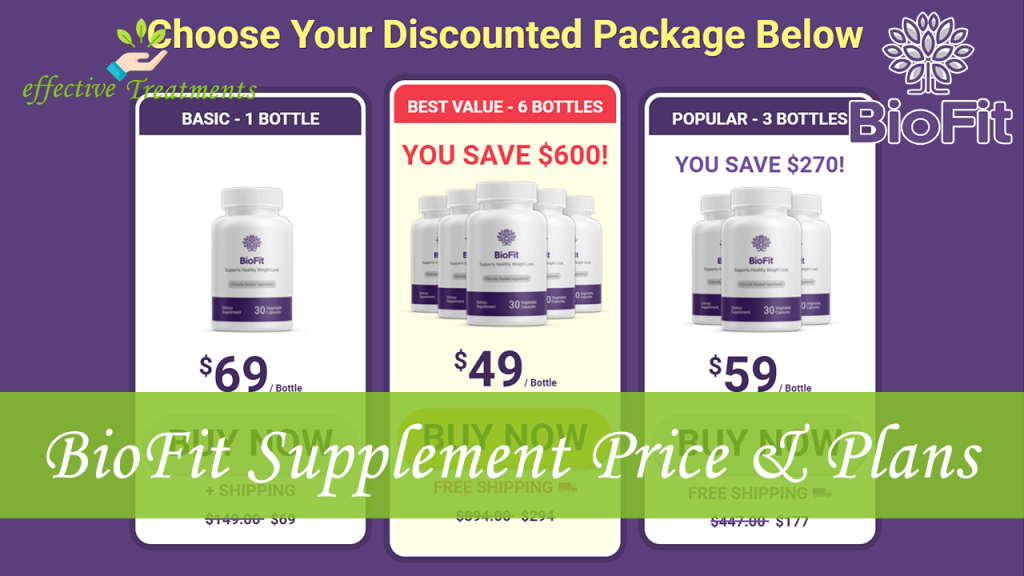 BioFit supplement price and plans