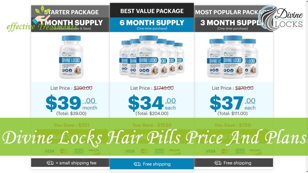 Divine Locks Hair Pills Price And Plans