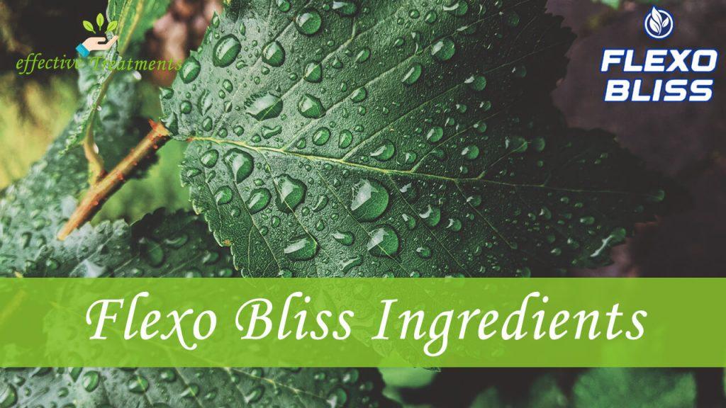 Flexo Bliss ingredients