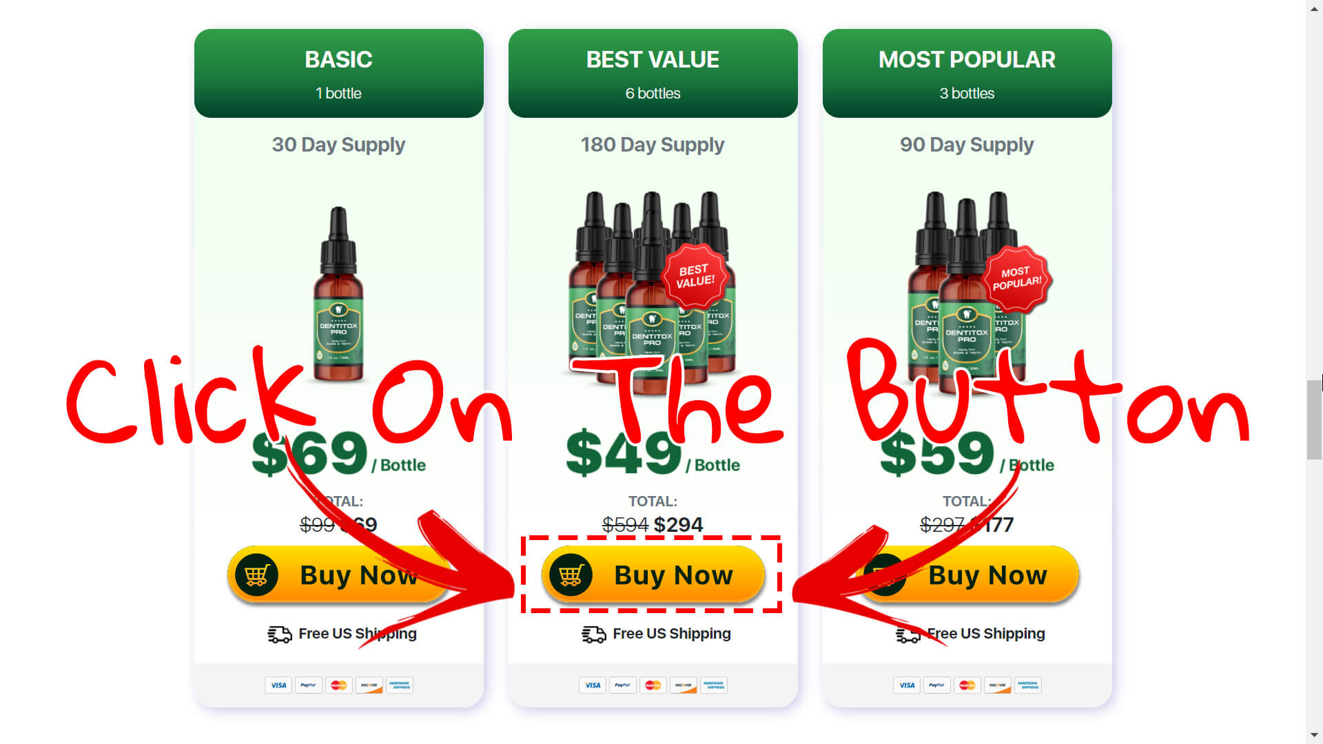 How to buy Dentitox Pro supplement step 3