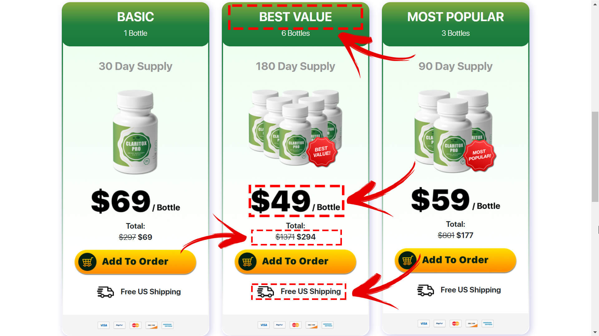 How to buy Claritox Pro supplement step2