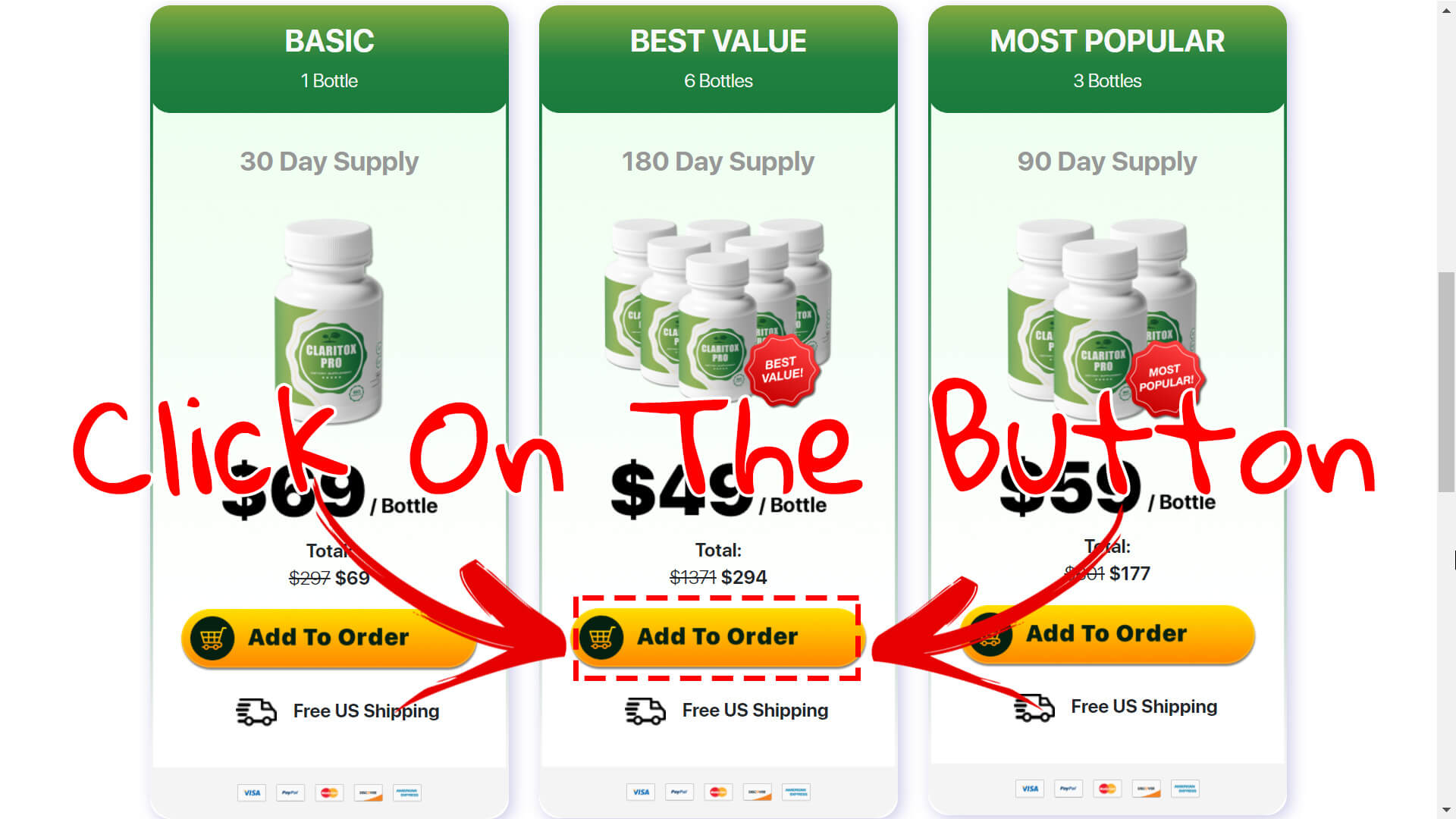 How to buy Claritox Pro supplement step3