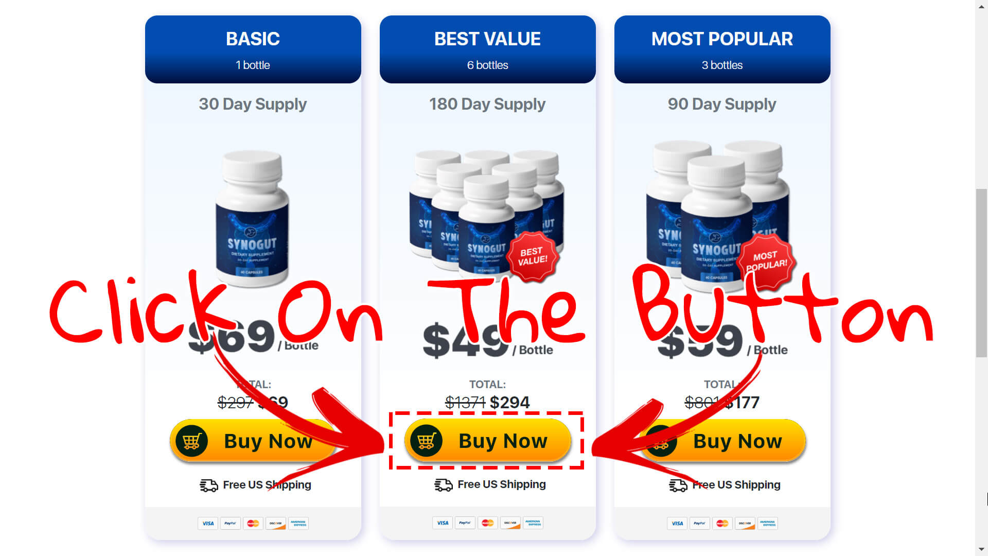How to buy Synogut supplement step 3